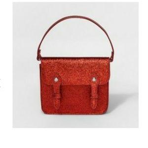 🆕 Cat & Jack Glitter Red Toddler Purse Handbag